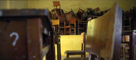 Sala de aula precária
