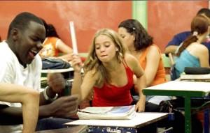 Descontração na sala de aula